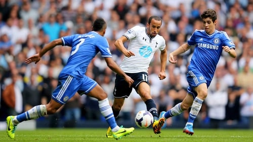 Andros Townsend in action against Chelsea