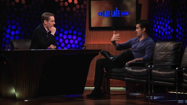 Colin Farrell on the Late Late Show