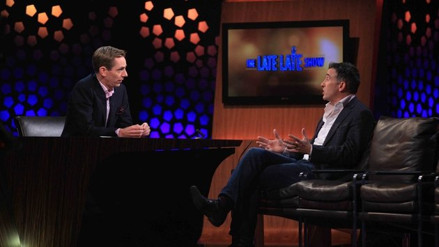 Steve Coogan on the Late Late Show