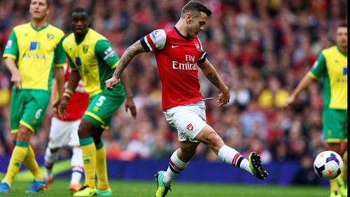 Jack Wilshere puts Arsenal ahead at the Emirates