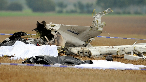 The plane took off from a small airport near Namur carrying members of a local skydiving club