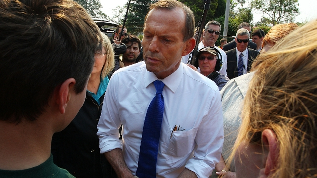 Australian Prime Minister Tony Abbott visited Winmalee in the Blue Mountains