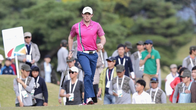 Rory McIlroy rallied strongly after a poor second round to finish in a tie for second