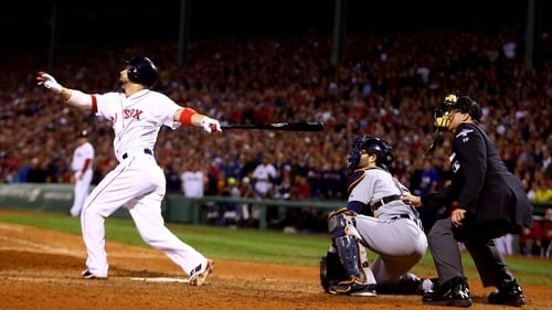 Shane Victorino provided the highlight at Fenway Park with his grand slam