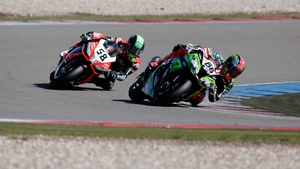 Eugene Laverty (left) has finished second overall to Tom Sykes (right) in the Superbike Riders Championship