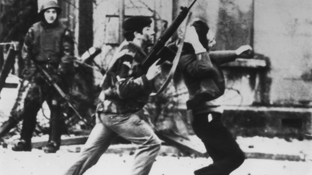 British troops opened fire during an unauthorised march in the Bogside in Co Derry