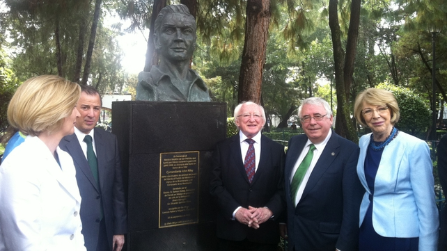 President Michael D Higgins is on the second day of his visit to Mexico