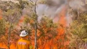 The fire near Lithgow, west of the Blue Mountains, will continue to burn for several days and that a number of communities in its path may be told to evacuate