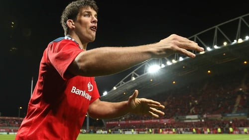 Donncha O'Callaghan lines out for Munster against Ospreys