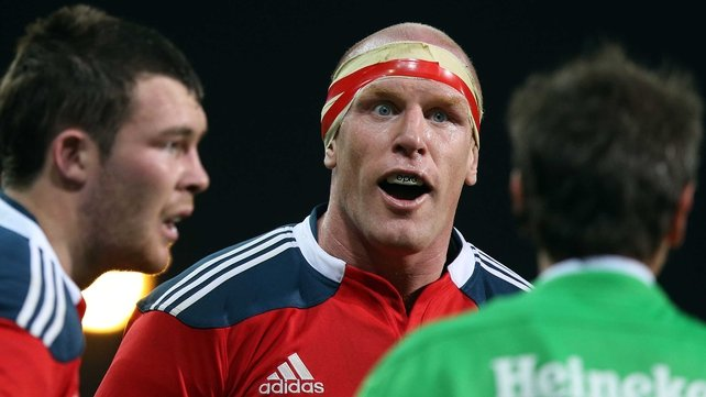 Paul O'Connell's return is among four changes to the Munster pack