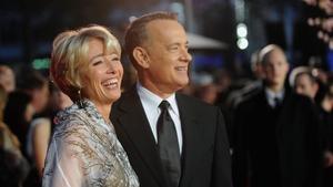Emma Thompson with Saving Mr Banks co-star Tom Hanks