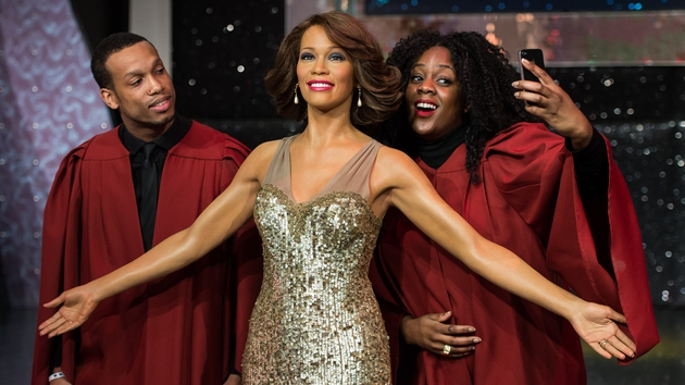 A Whitney Houston figurine was launched in Madame Tussauds London today