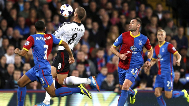 Pajtim Kasami of Fulham controls the ball before firing home