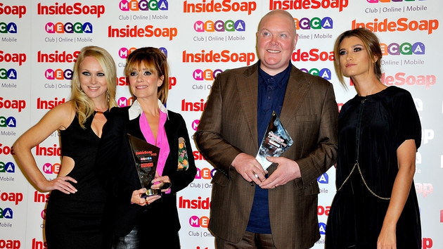 Emmerdale (l-r stars Michelle Hardwick, Zoe Henry, Dominic Brunt and Charley Webb) - Honoured with Best Soap and Outstanding Achievement