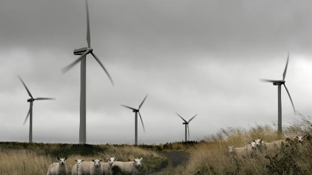 Low volumes from wind turbines pushed the price of electricity up last month