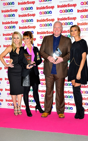 Michelle Hardwick, Zoe Henry, Dominic Brunt and Charley Webb
