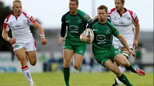 Matt Healy sidesteps against Ulster