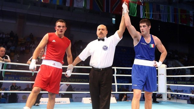 Joe Ward is declared the winner in Almaty