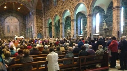 The relics went on display following 11am mass at Galway Cathedral this morning