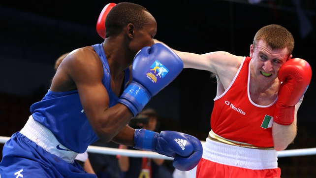 Paddy Barnes made light work of his last-16 bout in Almaty knocking out his opponent in the opening round