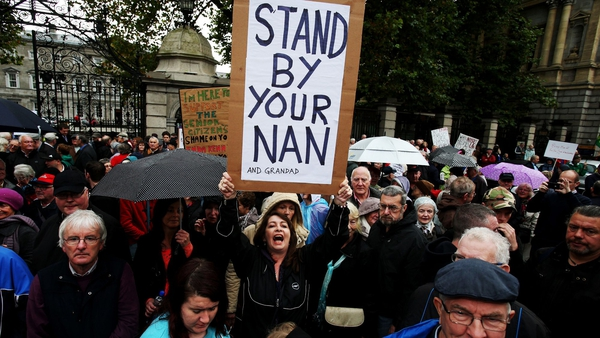 Protesters travelled to Dublin from around the country