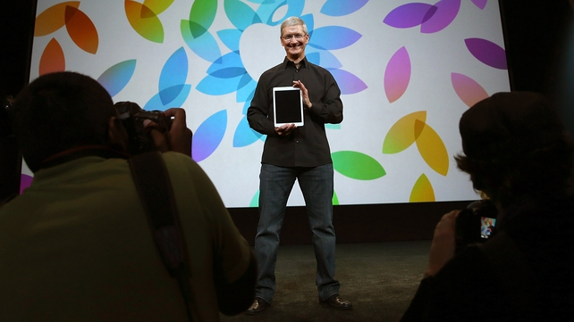Apple CEO Tim Cook unveiled the new iPad Air in San Francisco
