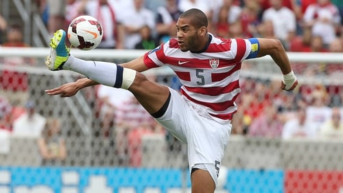 Oguchi Onyewu in action against Cuba during a CONCACAF Gold Cup match