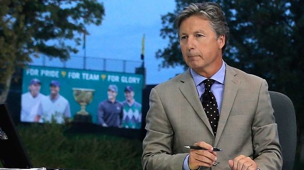 Brandel Chamblee on the set of The Golf Channel