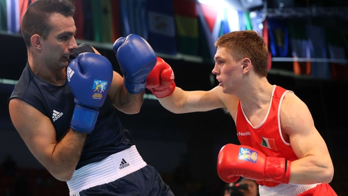 Jason Quigley became the first Irish competitor to reach a final at the AIBA World Boxing Championships
