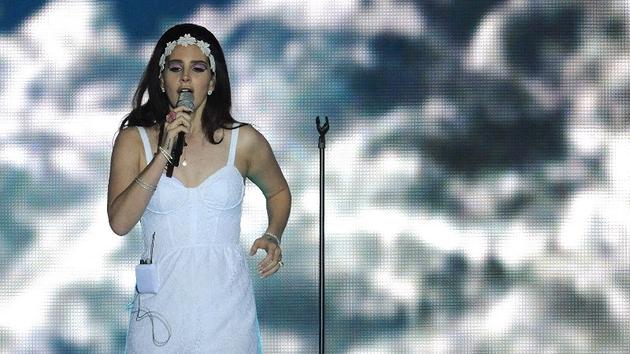 Lana Del Rey performing in Turin last May