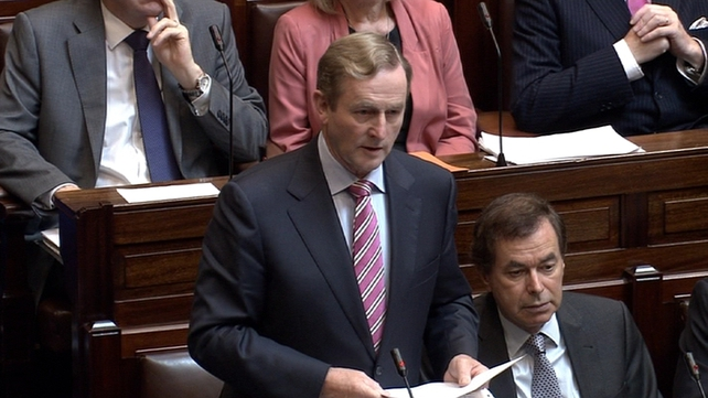 Enda Kenny said today was the last date for receipt of information from the 44 agencies