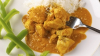 Pickled Chicken Curry - Now sprinkle some fresh coriander and serve hot with fluffy rice or naan bread.