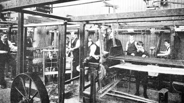 Tie making at Atkinson's Poplin Factory (Picture: NPA)