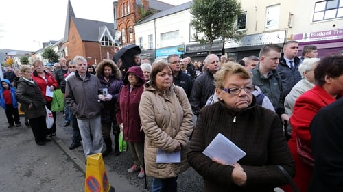 The memorial service was held this afternoon for the victims of the Shankill Road bombing