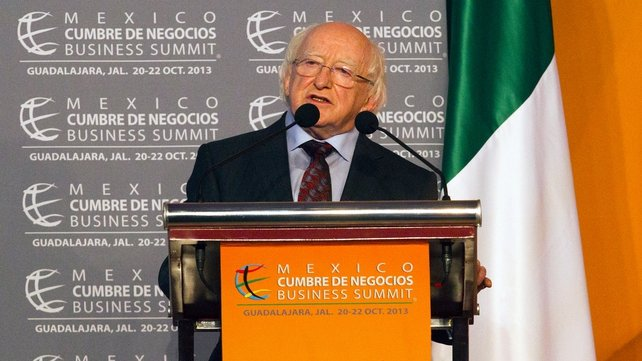President Michael D Higgins is undertaking a 13-day visit to Latin America