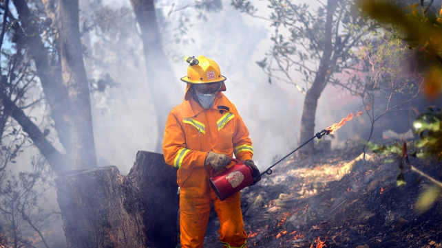 Firefighters have worked around the clock to deal with the wildfires