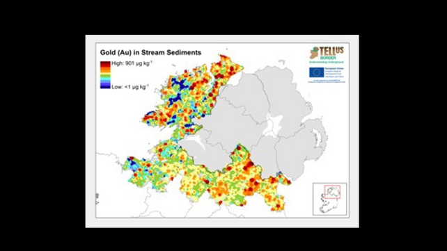 The project found previously unknown concentrations of gold in a number of areas