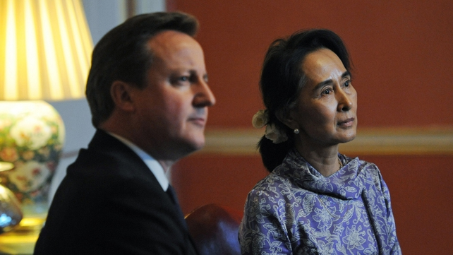 Ms Suu Kyi met David Cameron in Downing Street yesterday