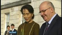 Aung San Suu Kyi begins visit to Northern Ireland
