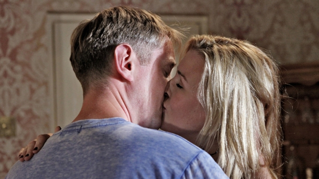 Wayne and Orla kiss passionately