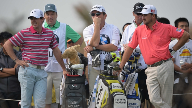 Rory McIlroy and Graeme McDowell are playing together in China