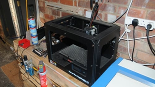 The 3D printer that was seized (Pic: Greater Manchester Police)