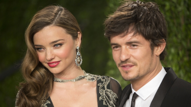 Miranda Kerr and Orlando Bloom in February 2013