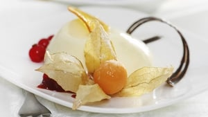 Kevin Dundon's Buttermilk and heather infused pannacotta with honey