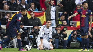 Ronaldo on the ground, again