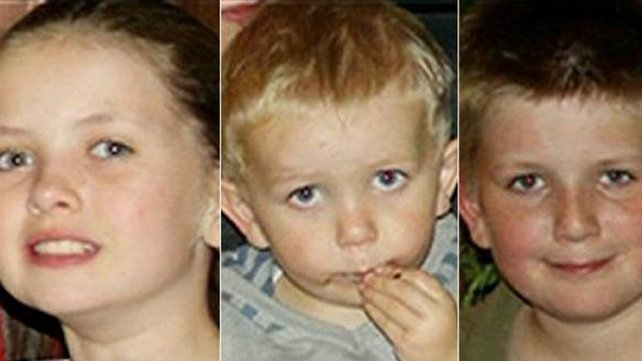 Saoirse, Conor and Soren O'Shea were killed in the crash