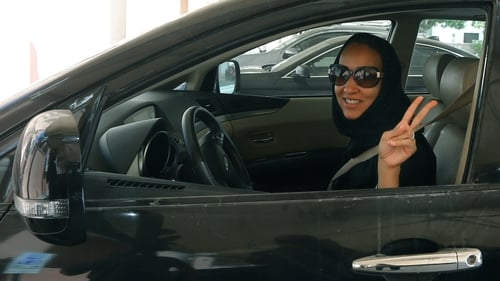 Saudi activist Manal Al Sharif, who now lives in Dubai shows support for today's protest day against the ban on women driving in Saudi Arabia