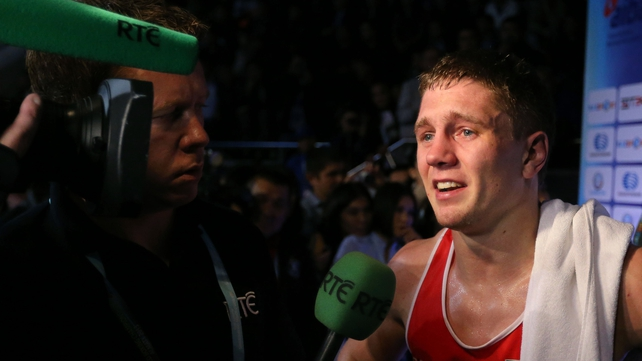 Jason Quigley has won his first professional bout