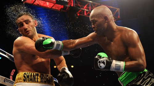 Bernard Hopkins lands a right in the Boardwalk Hall Arena