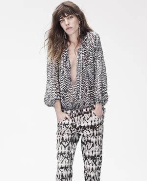 Lou Doillon modelling Isabel Marant's H&M line